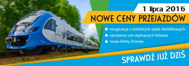 Zmiana cen biletów w Kolejach Śląskich
