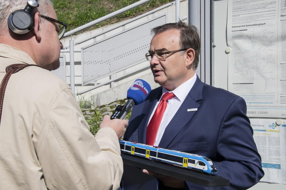 Prezes Kolei Śląskich Wojciech Dinges opowiada o nowych pociągach