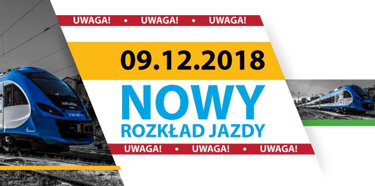 Nowy rozkład jazdy od 9 grudnia 2018